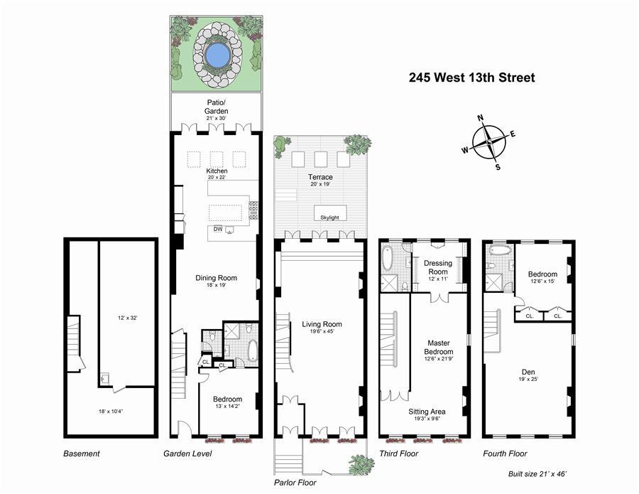 Floor plan of 245 West 13th Street - West Village - Meatpacking District, New York