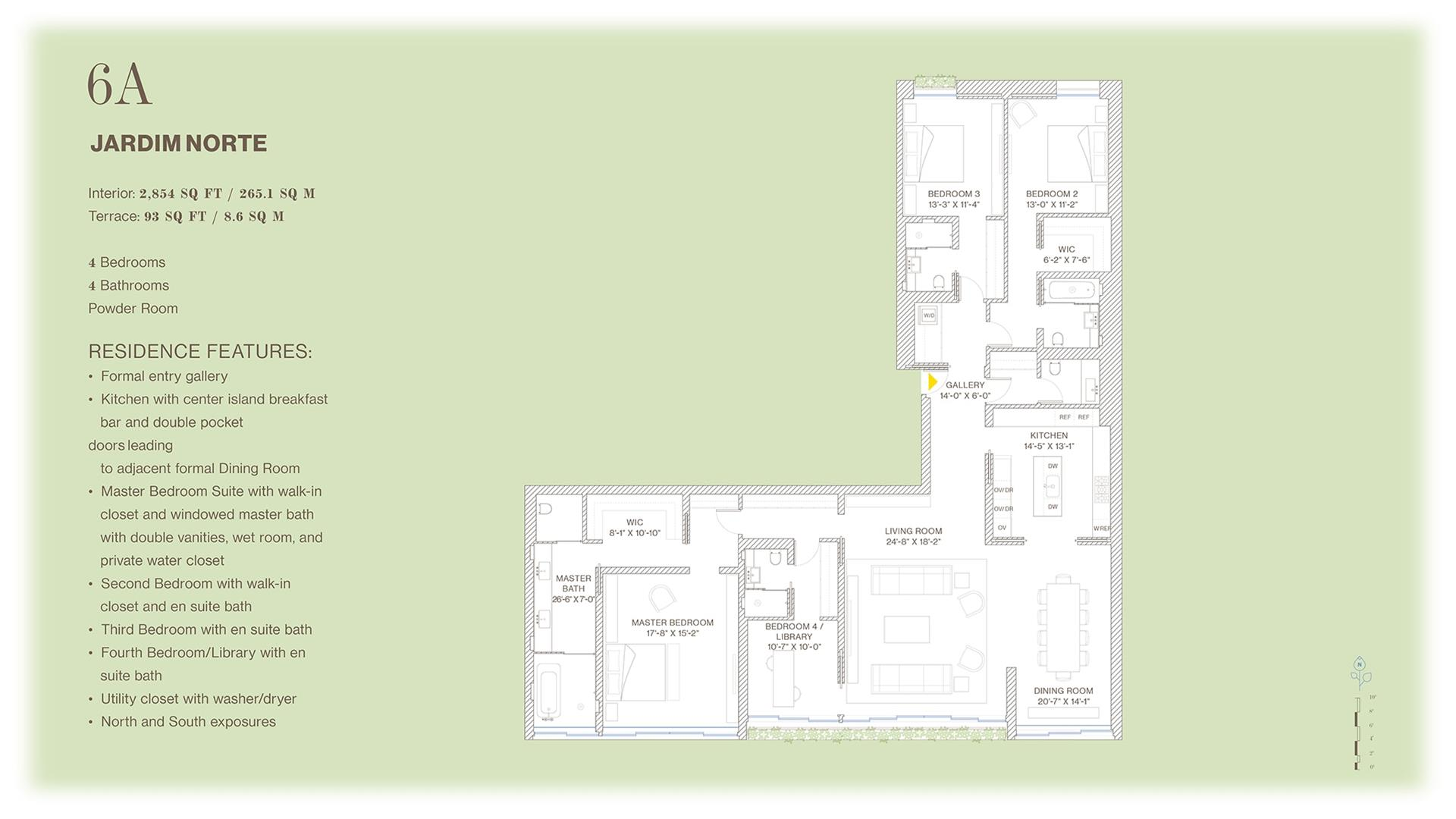 Floor plan of Jardim, 527 West 27th St, 6A - Chelsea, New York