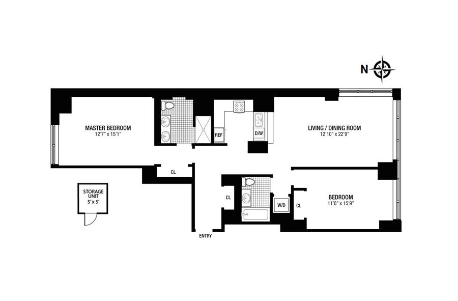 Floor plan of The Charleston, 225 East 34th Street, 8I - Murray Hill, New York
