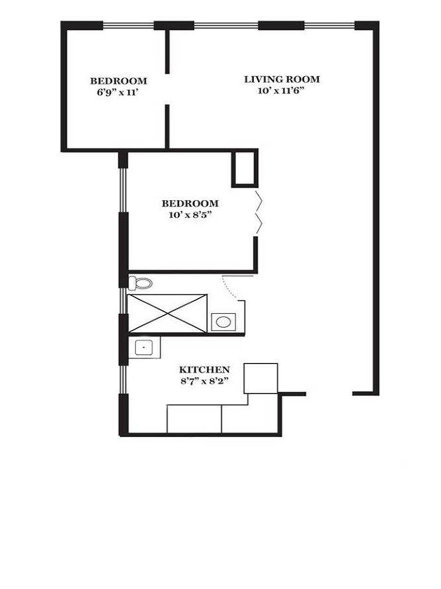 Floor plan of 324 East 50th St, 5A - Turtle Bay, New York