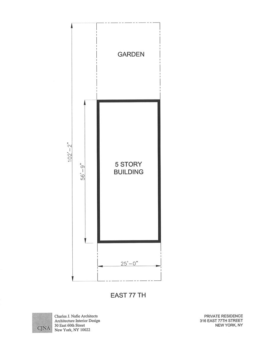 Floor plan of 316-318 East 77th St - Upper East Side, New York