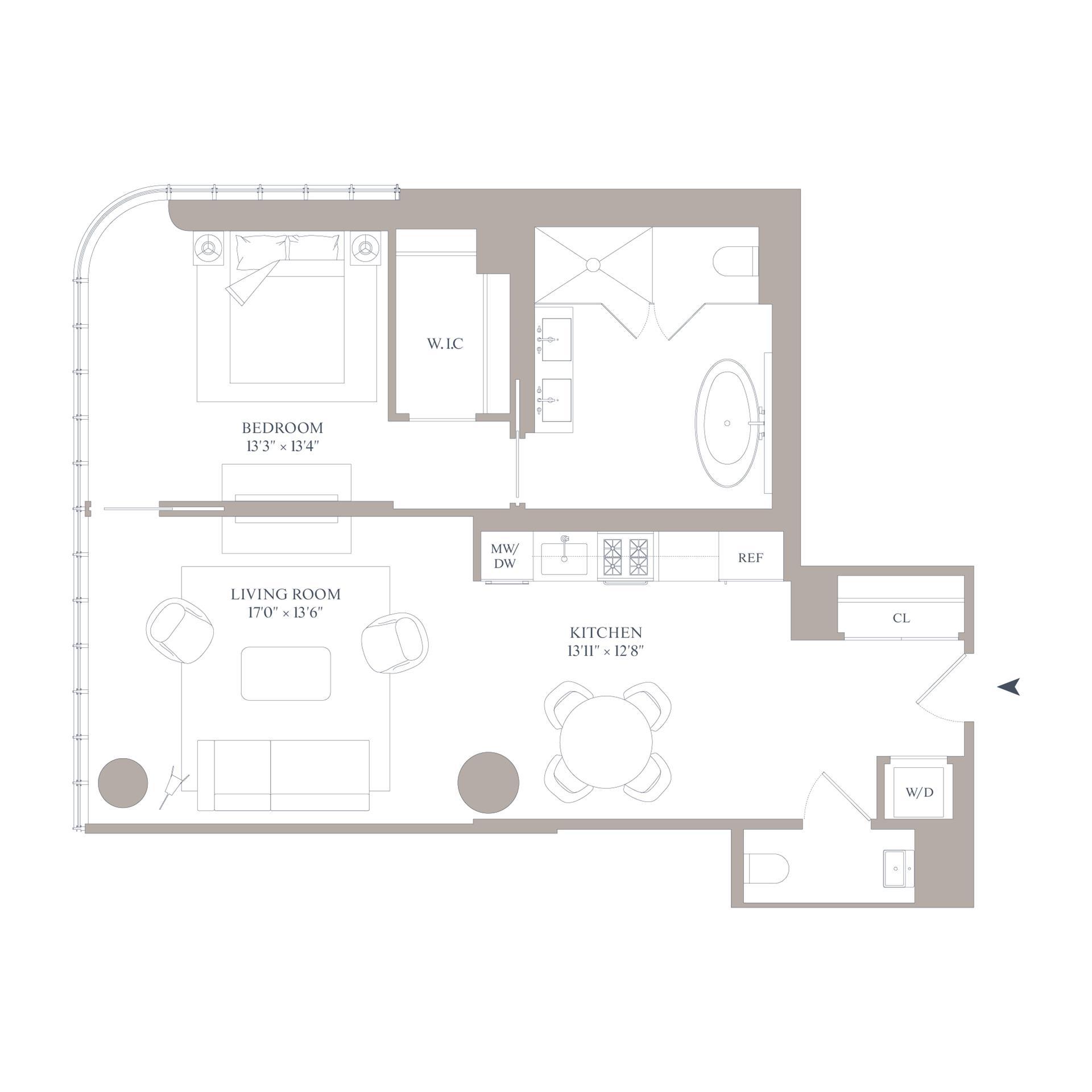 Floor plan of 565 Broome St, S9A - SoHo - Nolita, New York