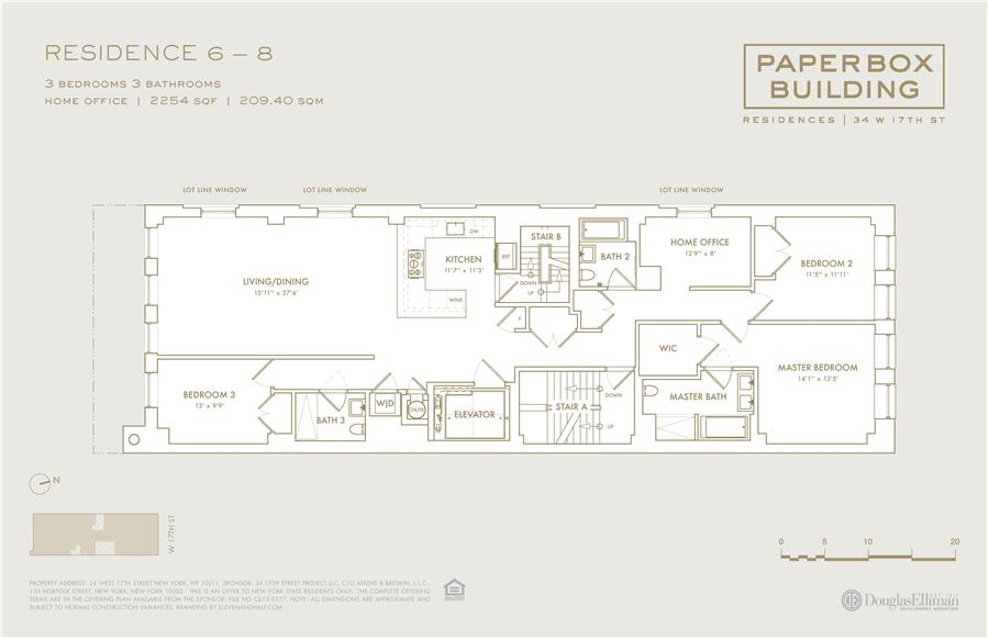 Floor plan of 34 West 17th St, 8 - Flatiron District, New York