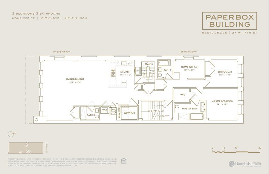 Floor plan of 34 West 17th St, 8 - Flatiron District, New York