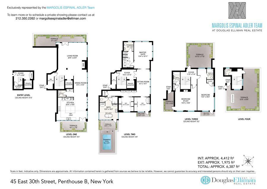 Floor plan of Park South Lofts, 45 East 30th St, PHB - Flatiron District, New York