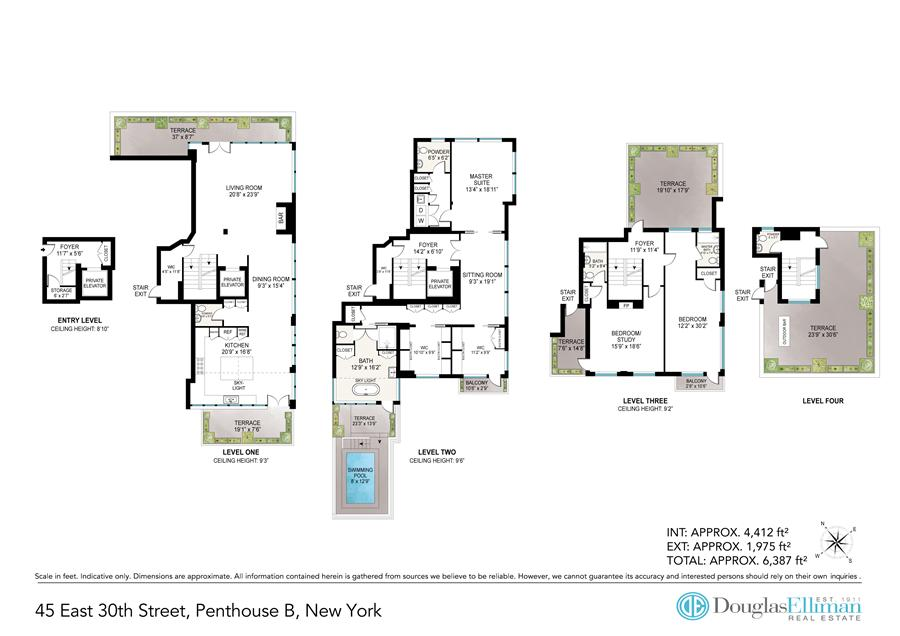 Floor plan of Park South Lofts, 45 East 30th St, PHB - Flatiron District, New York