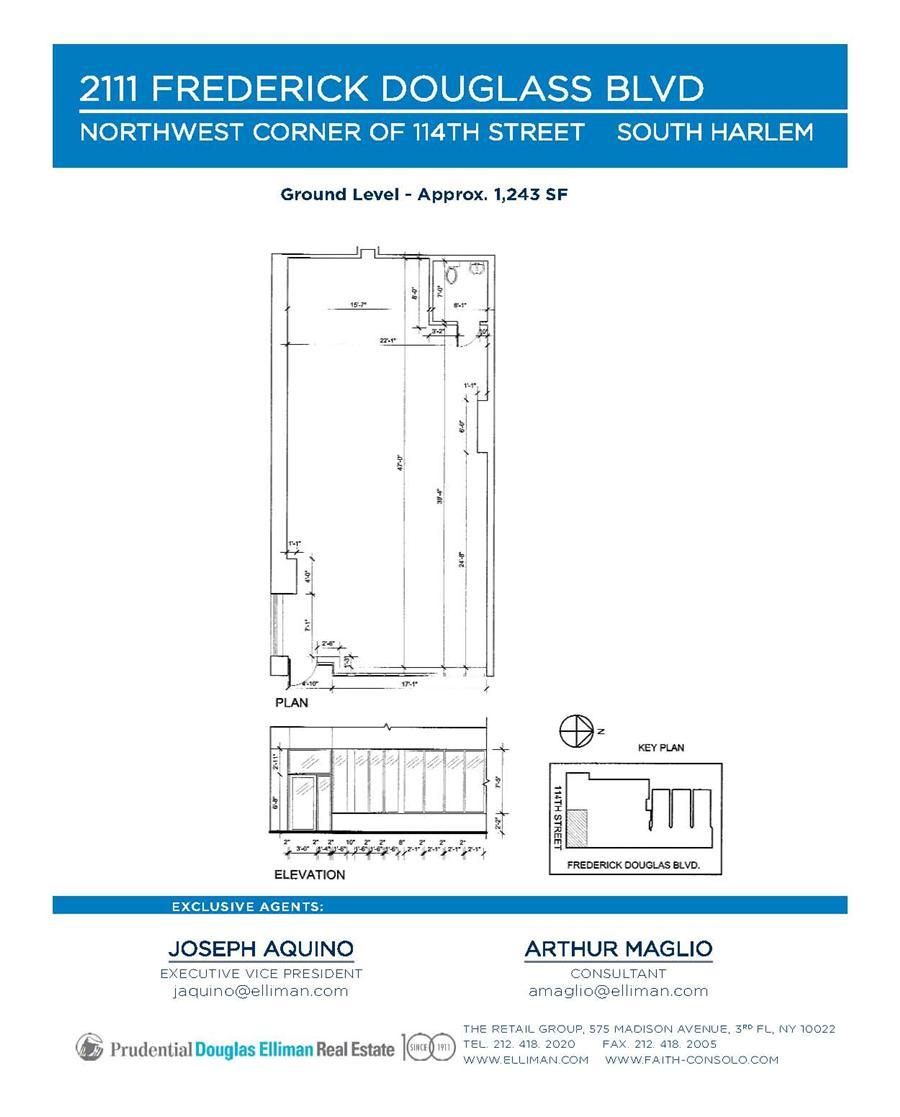 Floor plan of 2111 Frederick Douglass Boulevard, RETAIL - Harlem, New York
