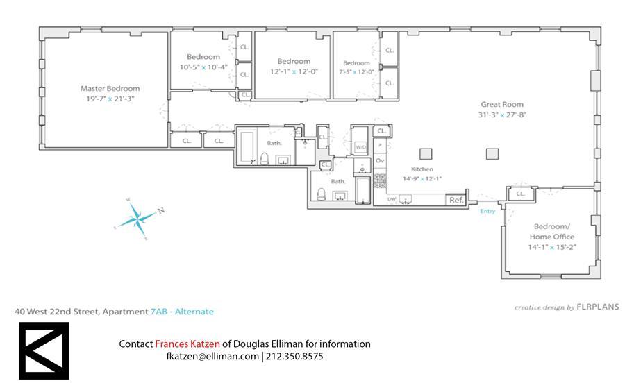 Floor plan of 40 West 22nd St, 701 - Flatiron District, New York