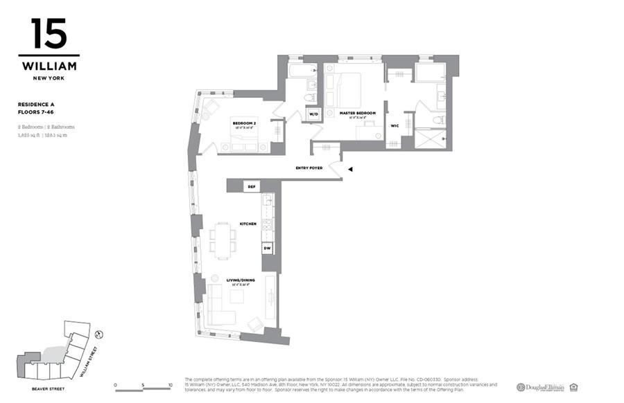 Floor plan of 15 William, 15 William St, 25A - Financial District, New York