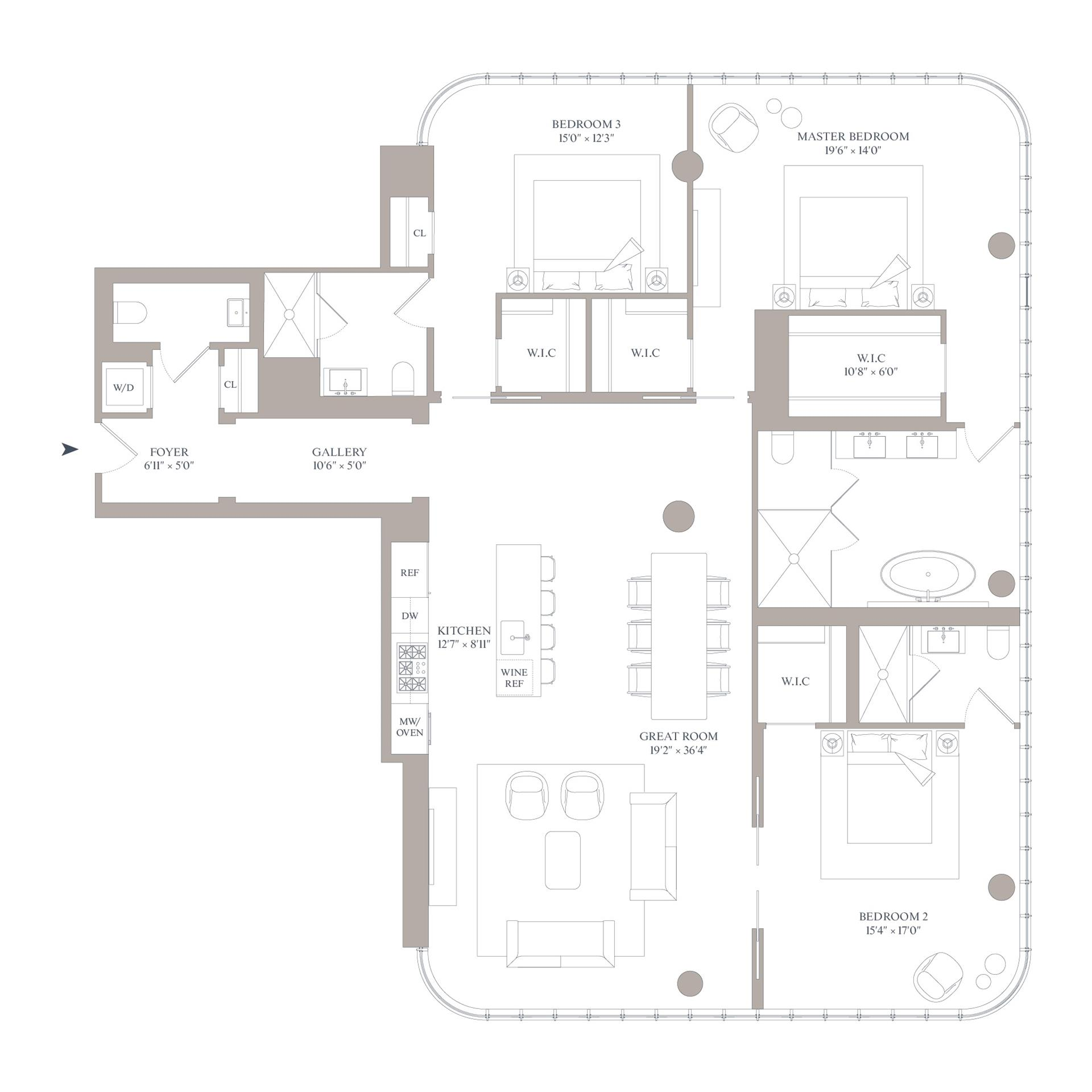 Floor plan of 565 Broome St, S11E - SoHo - Nolita, New York