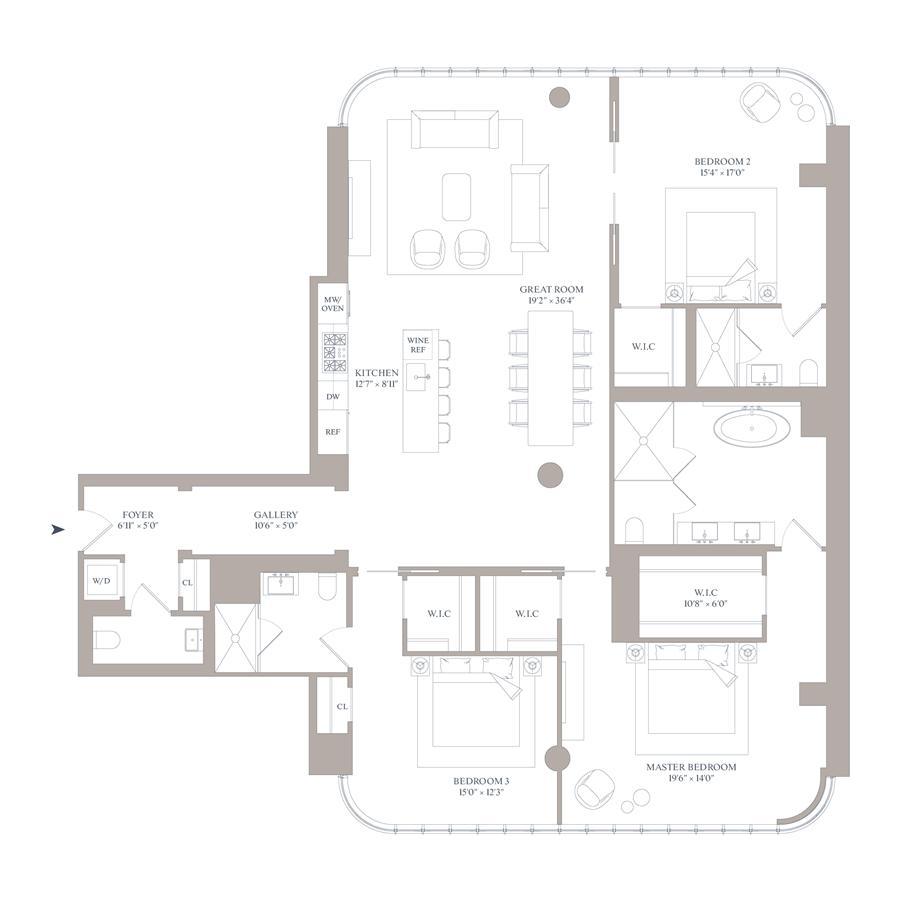 Floor plan of 565 Broome St, S11E - SoHo - Nolita, New York