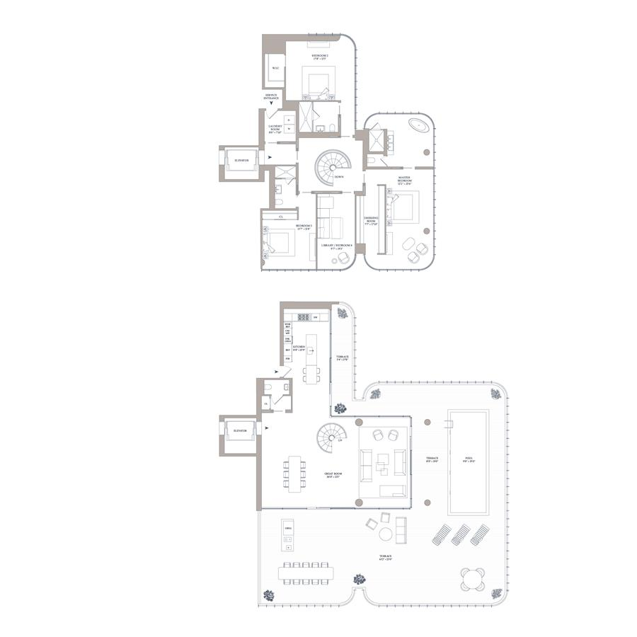 Floor plan of 565 Broome St, S16B - SoHo - Nolita, New York