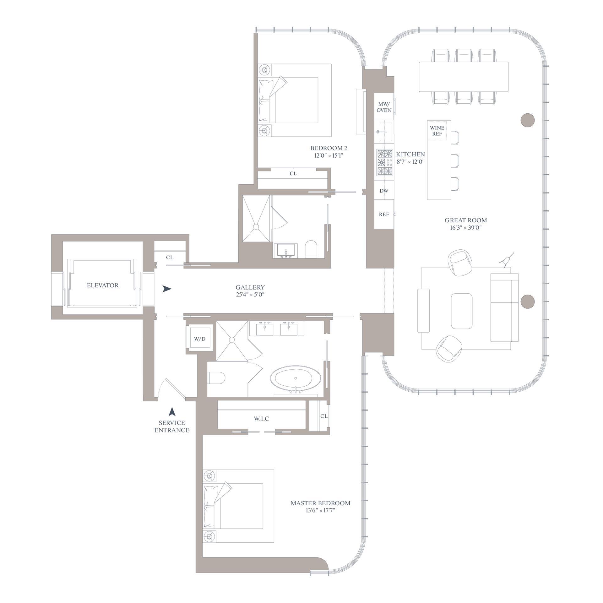 Floor plan of 565 Broome St, N24B - SoHo - Nolita, New York