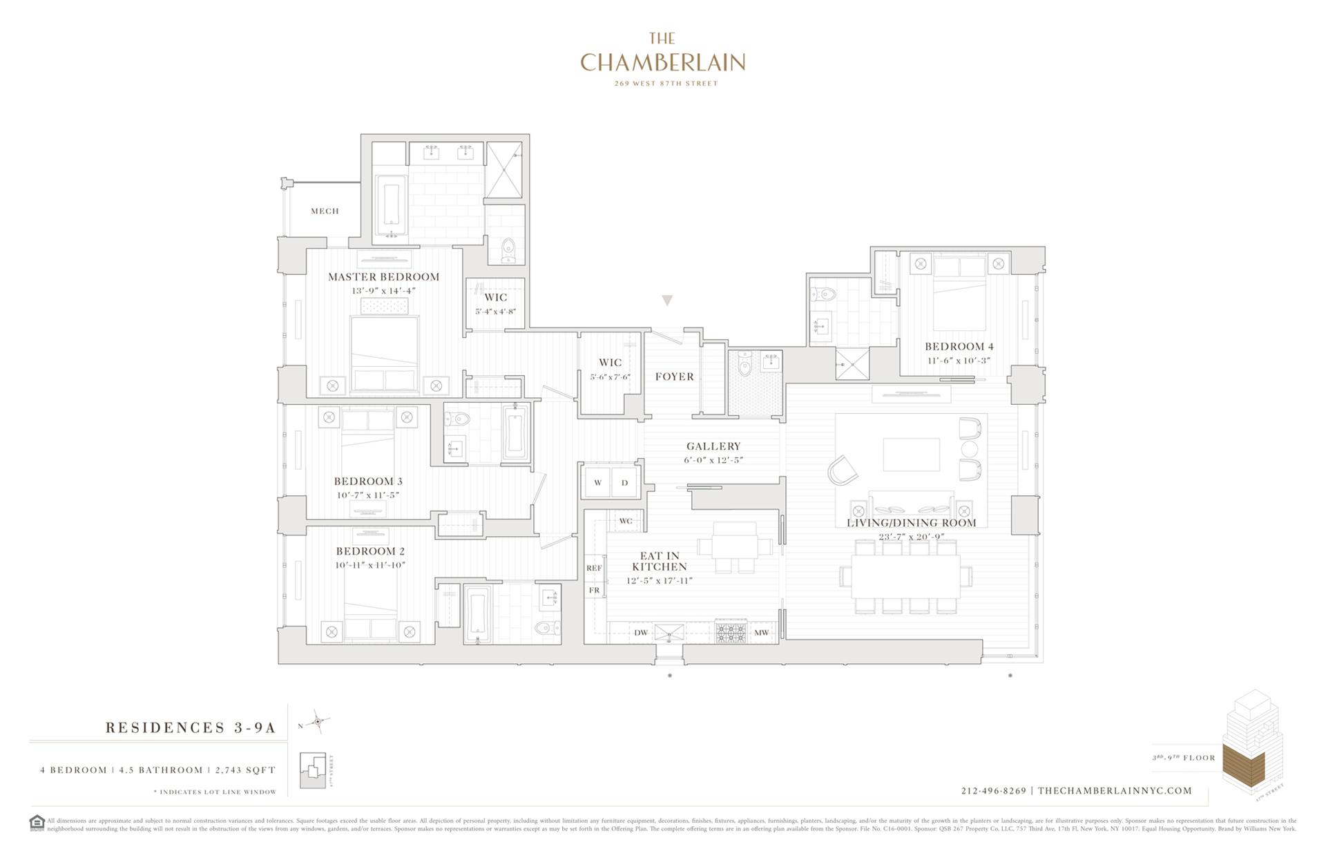 Floor plan of 269 West 87th St, 5A - Upper West Side, New York