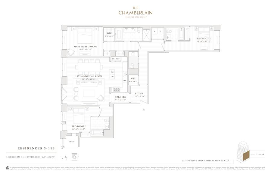 Floor plan of 269 West 87th St, 8B - Upper West Side, New York