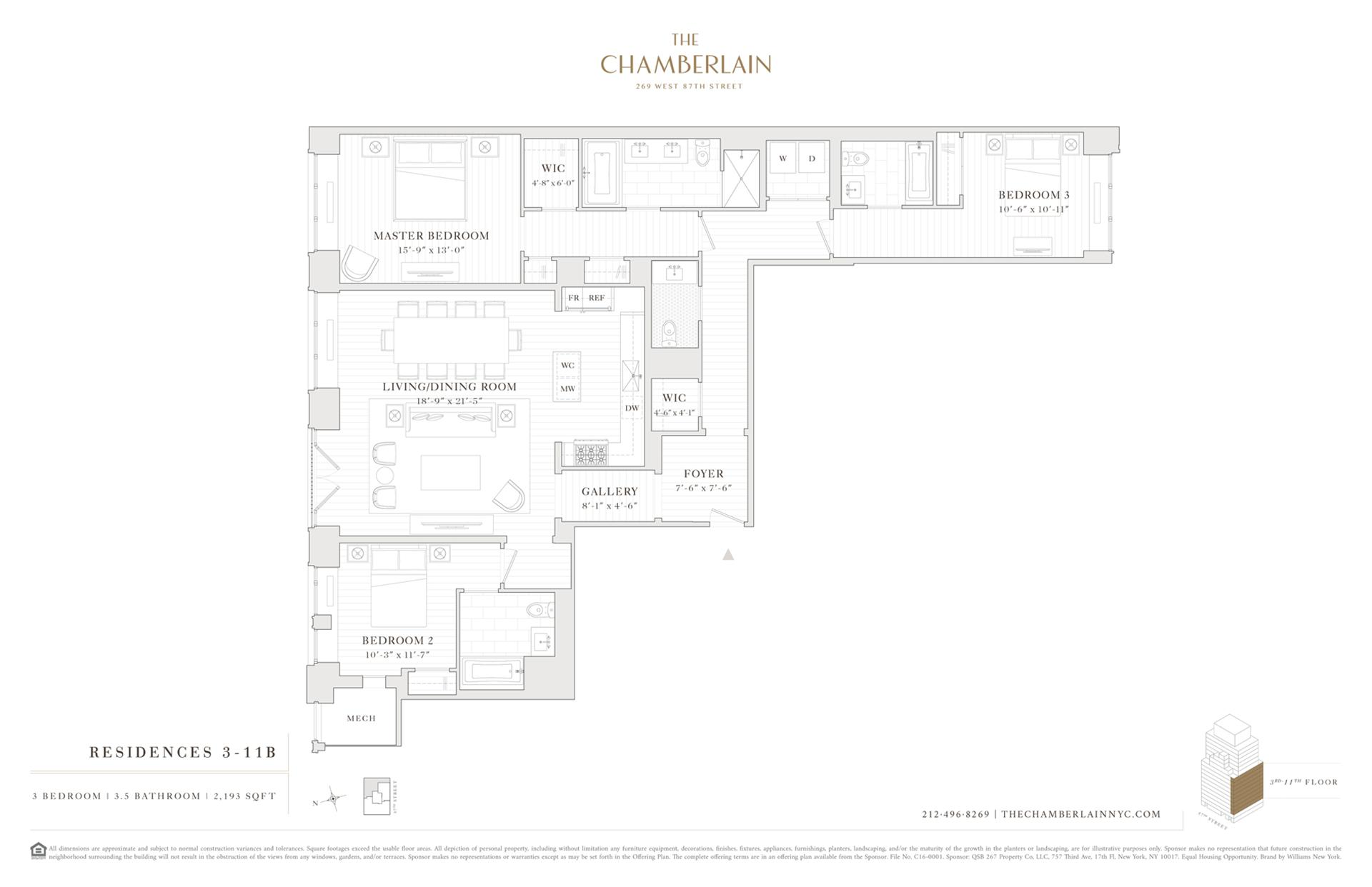 Floor plan of 269 West 87th St, 4B - Upper West Side, New York