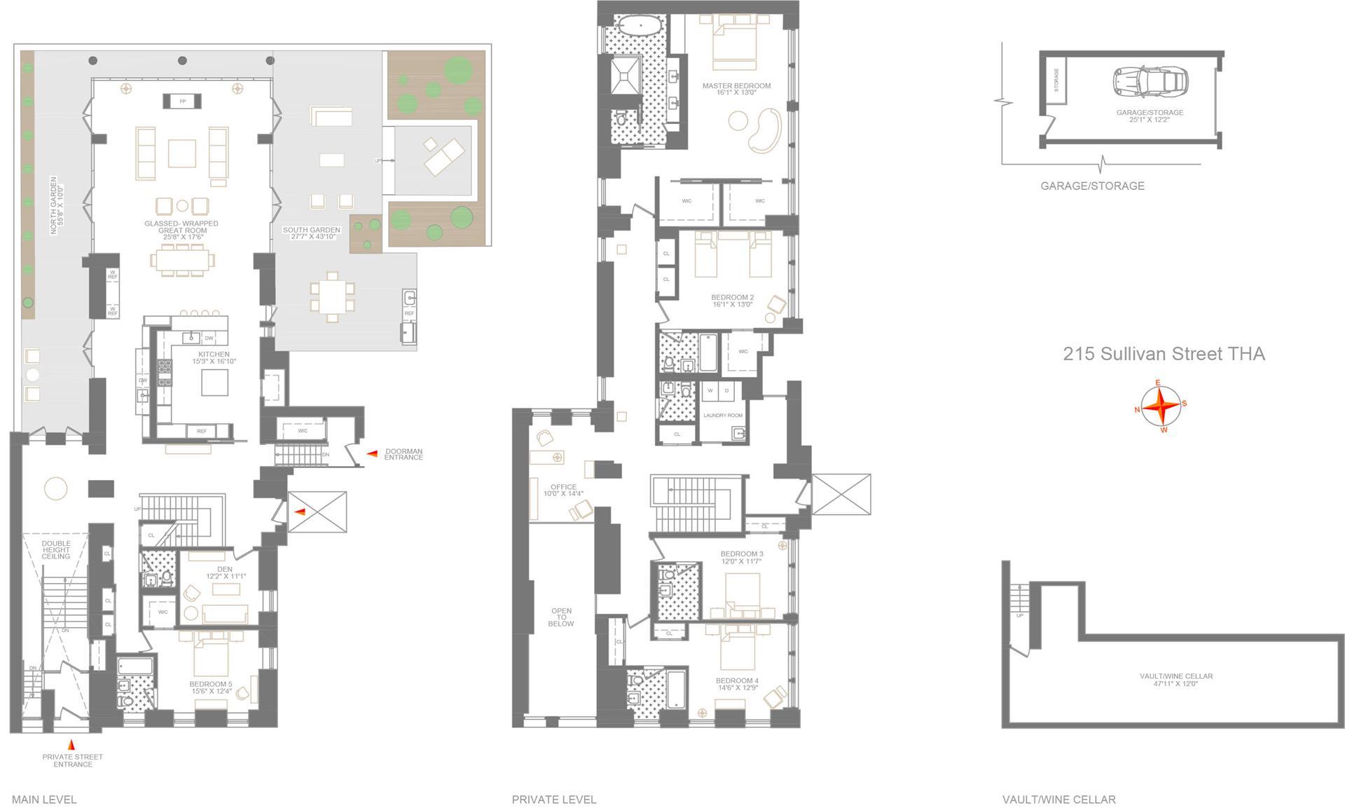 Floor plan of 215 Sullivan St, THA - Greenwich Village, New York