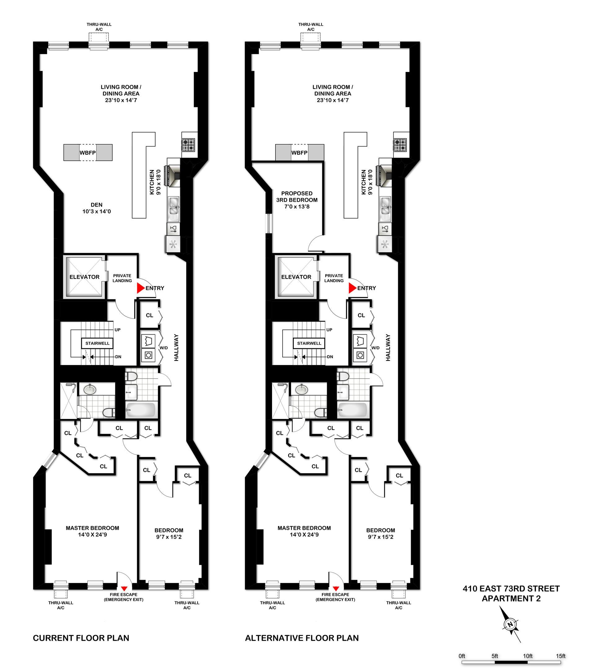 Floor plan of 410 E 73RD ST OWNER, 410 East 73rd St, 2 - Upper East Side, New York