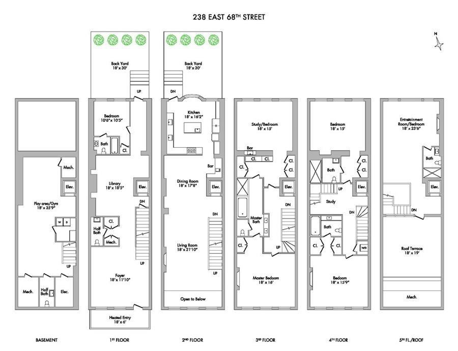 Floor plan of 238 East 68th St - Upper East Side, New York
