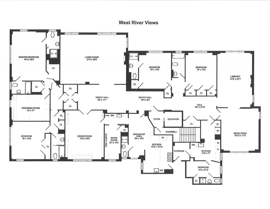 Floor plan of 325 W End Ave Owners Inc, 325 West End Avenue, 11DC