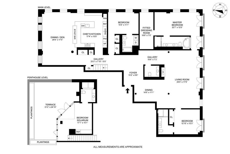 Floor plan of Jade NYC, 16 West 19th Street, PH1 - Flatiron District, New York