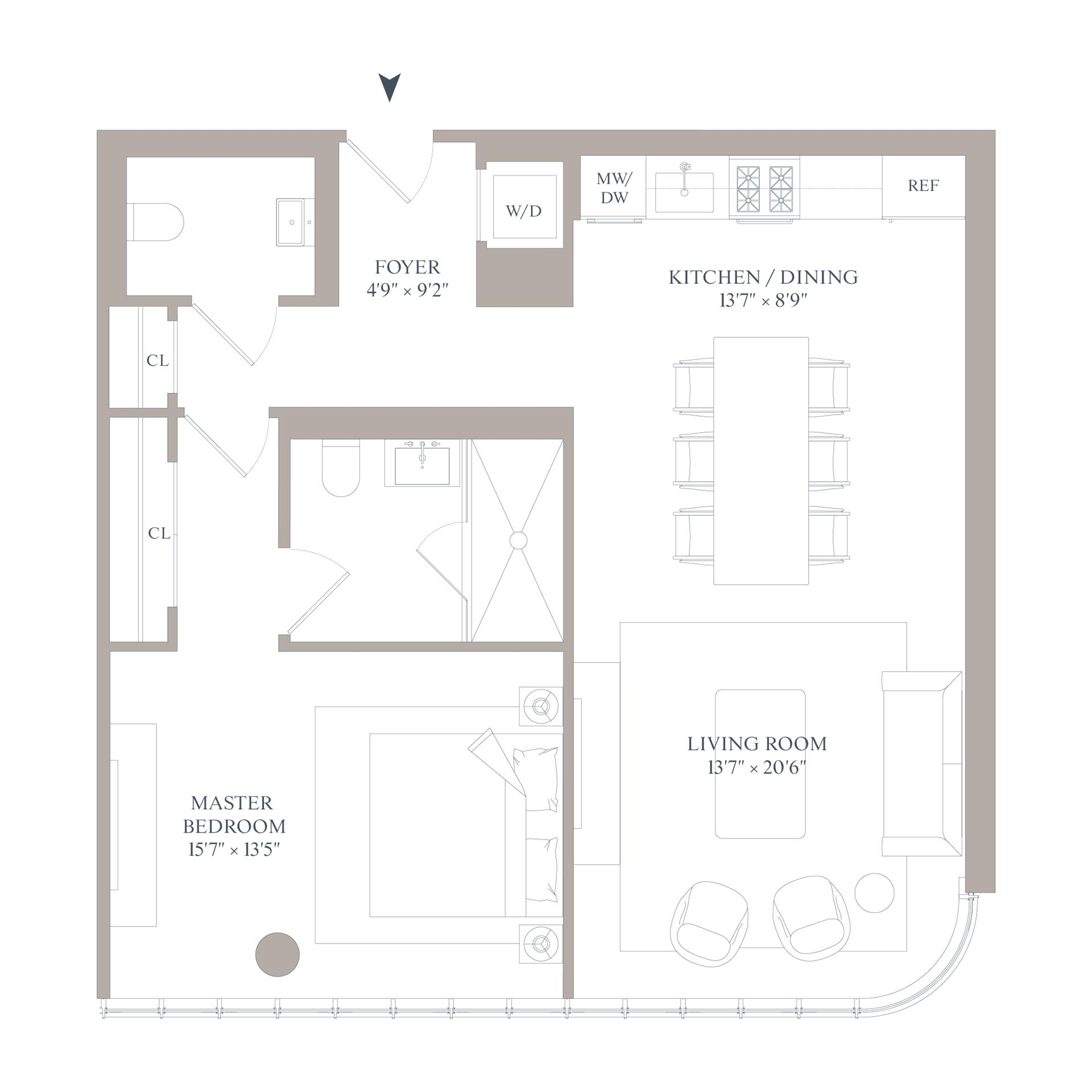 Floor plan of 565 Broome St, S12D - SoHo - Nolita, New York