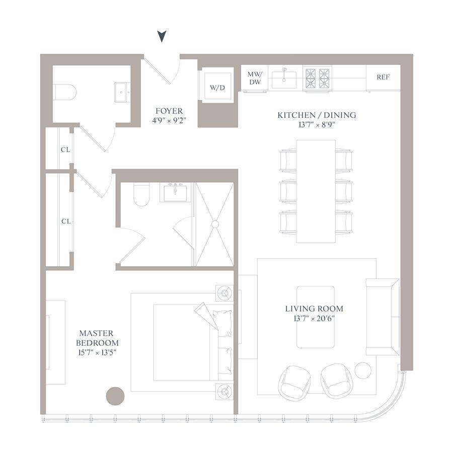 Floor plan of 565 Broome St, S12D - SoHo - Nolita, New York