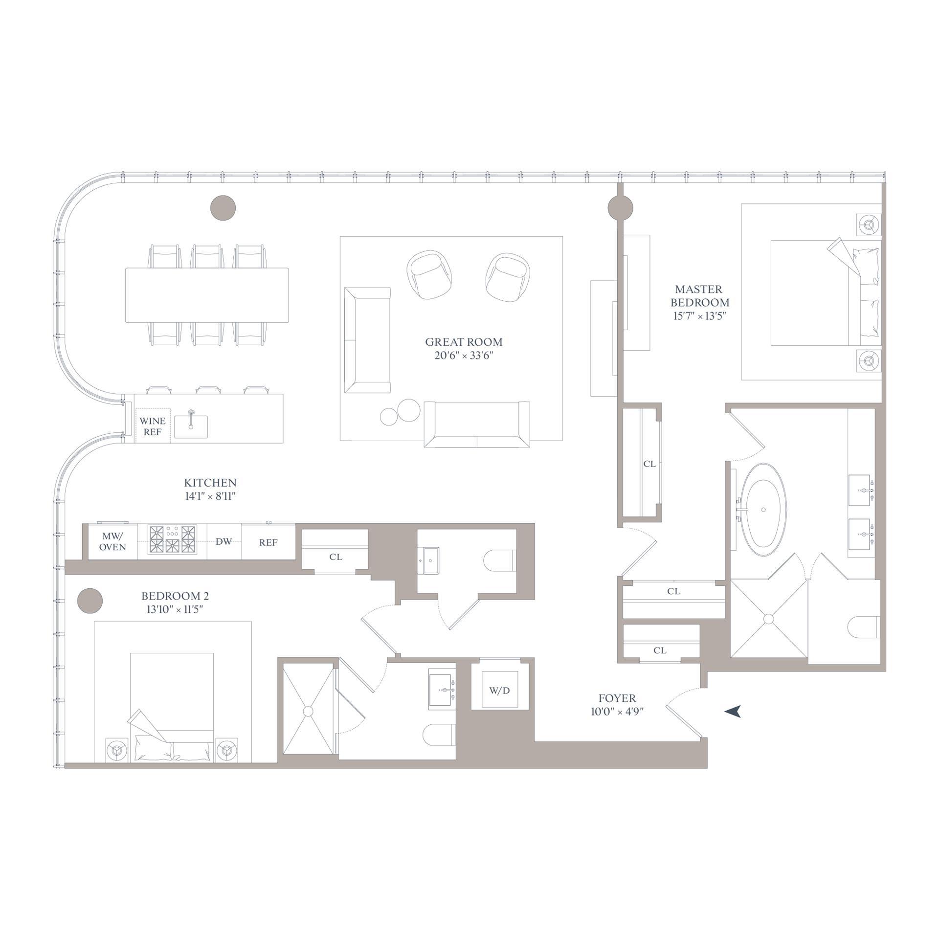 Floor plan of 565 Broome St, N11C - SoHo - Nolita, New York