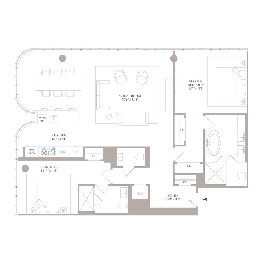 Floor plan of 565 Broome St, N11C - SoHo - Nolita, New York