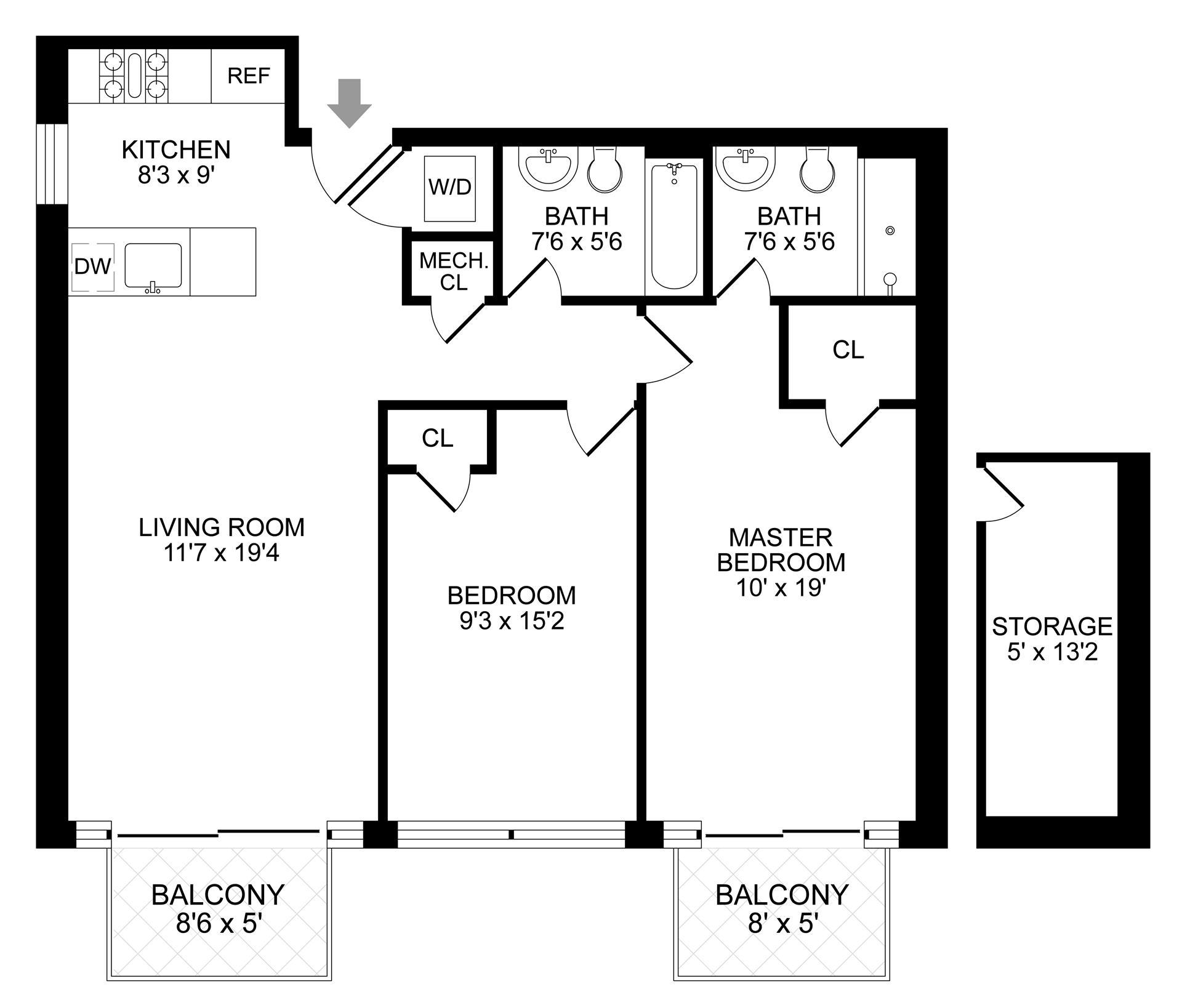 Floor plan of 854 Putnam Avenue, 3A - Stuyvesant Heights, New York