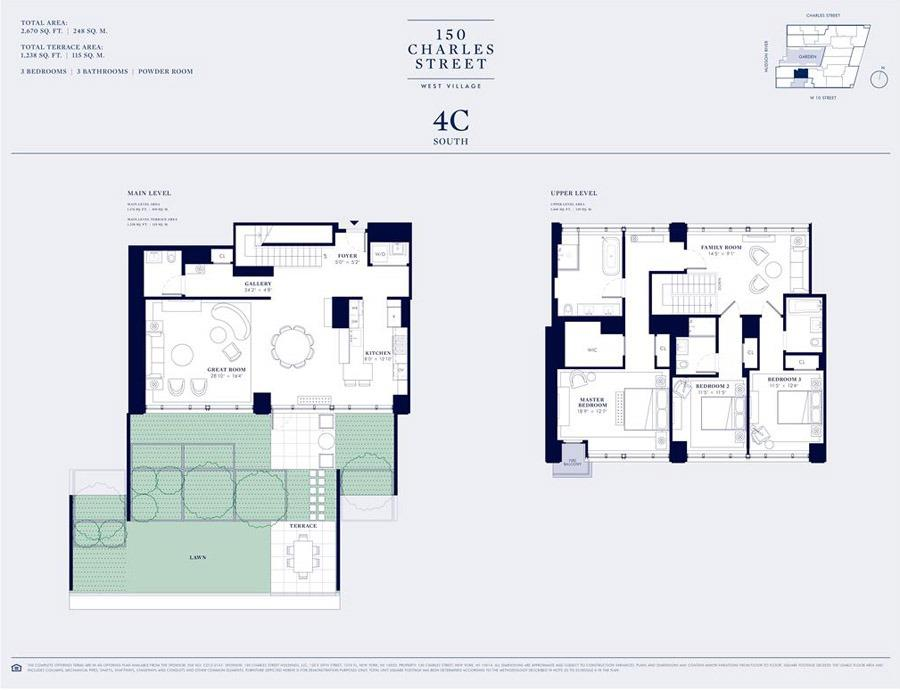 Floor plan of 150 Charles St, 4BCS - West Village - Meatpacking District, New York