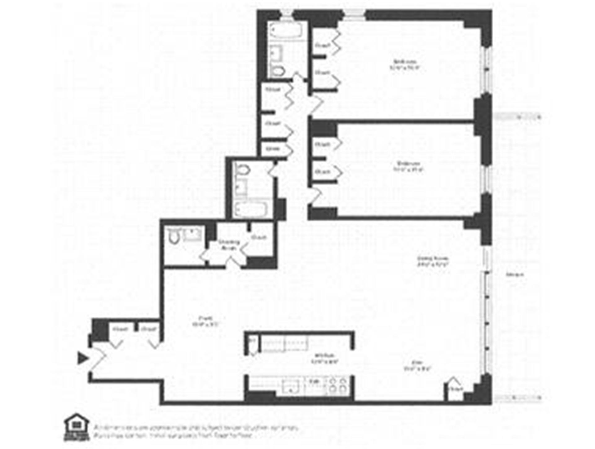 Floor plan of NEW YORK TOWERS, 305 East 24th Street, 7W - Gramercy - Union Square, New York