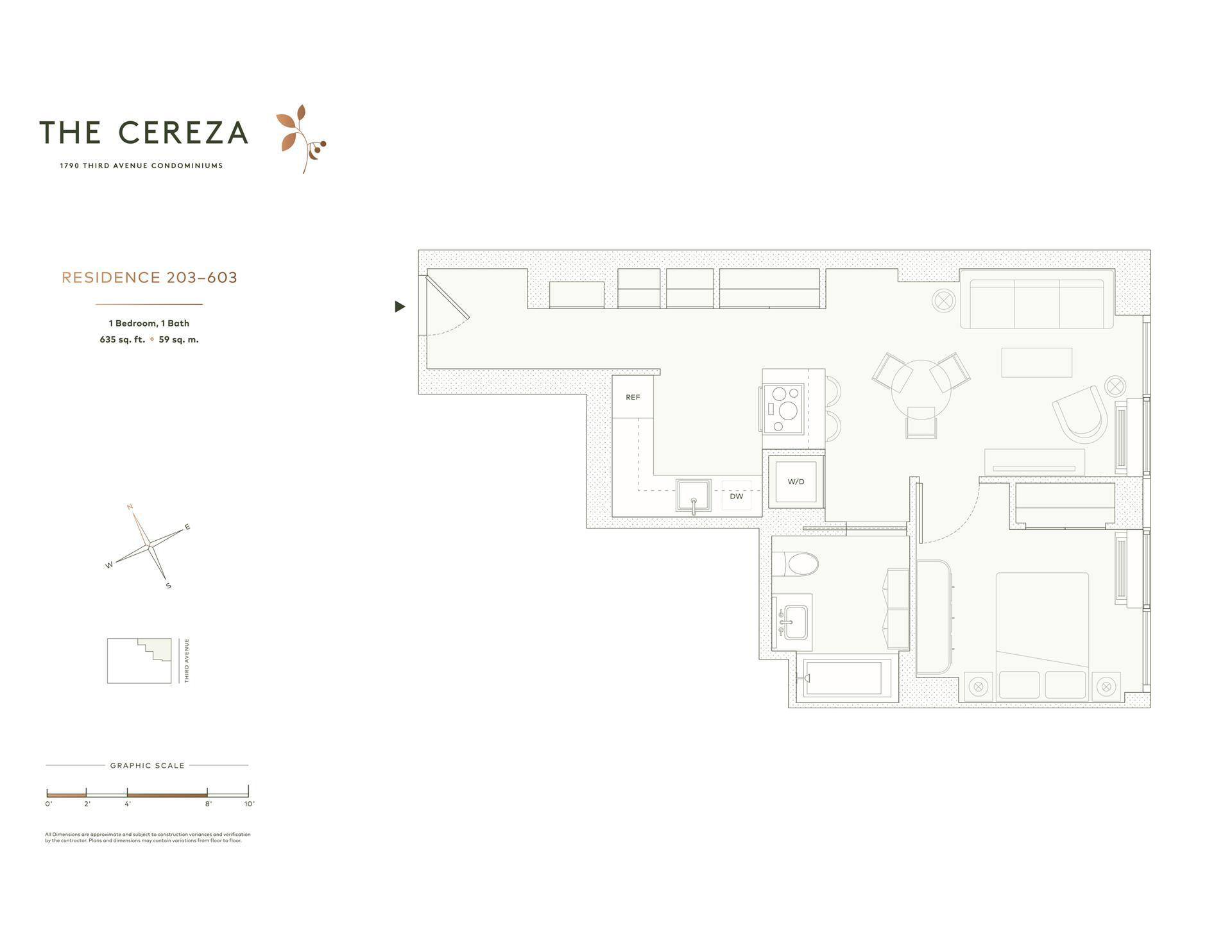 Floor plan of 1790 Third Avenue, 403 - Upper East Side, New York