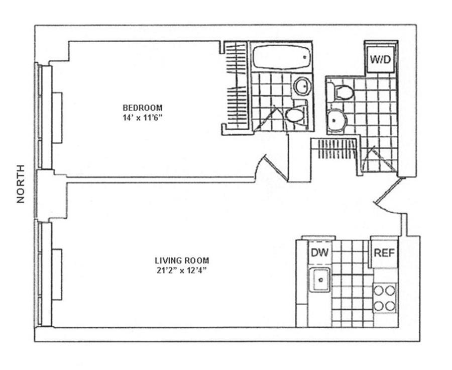 Floor plan of Trump Place, 200 Riverside Boulevard, 7B - Upper West Side, New York