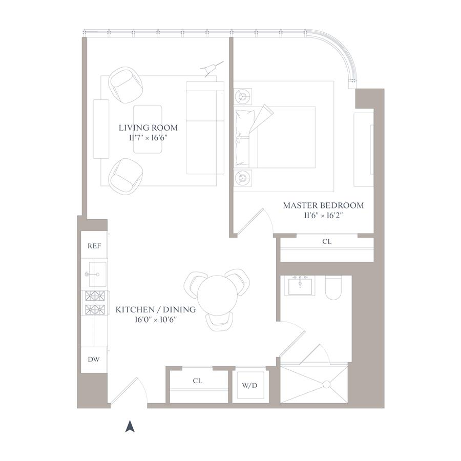 Floor plan of 565 Broome St, N5F - SoHo - Nolita, New York