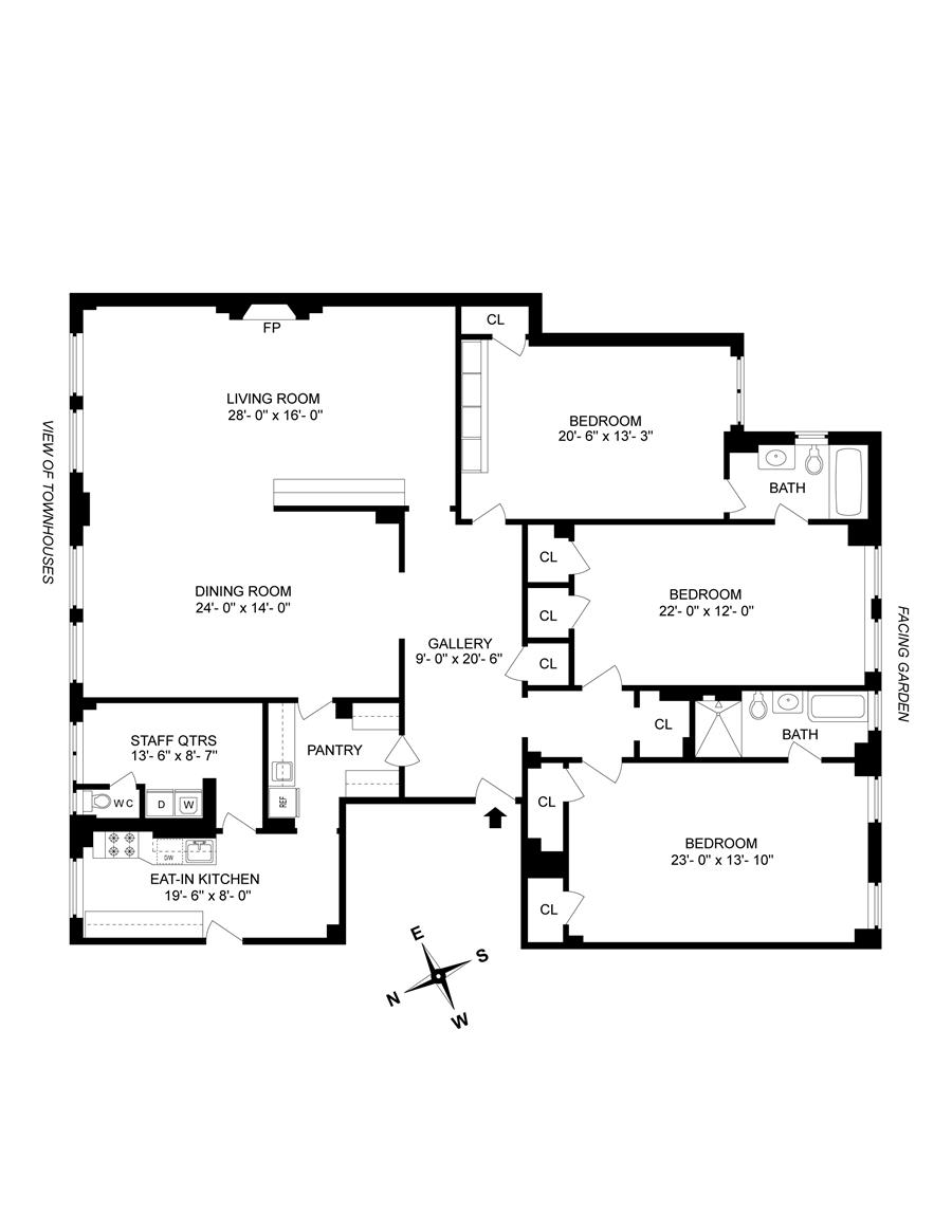 Floor plan of 1185 Park Avenue, 3K - Carnegie Hill, New York
