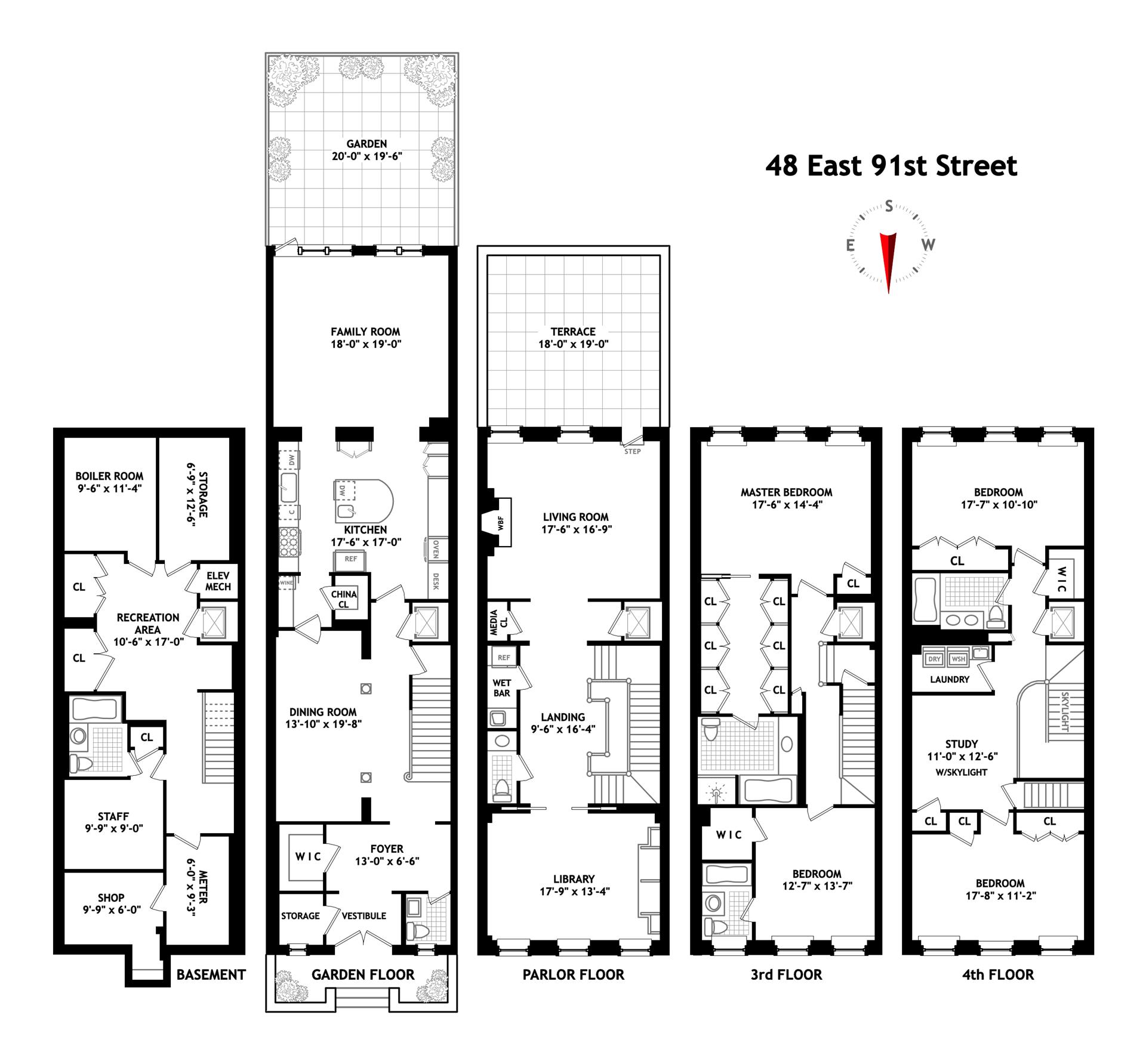 Floor plan of 48 East 91st St - Carnegie Hill, New York