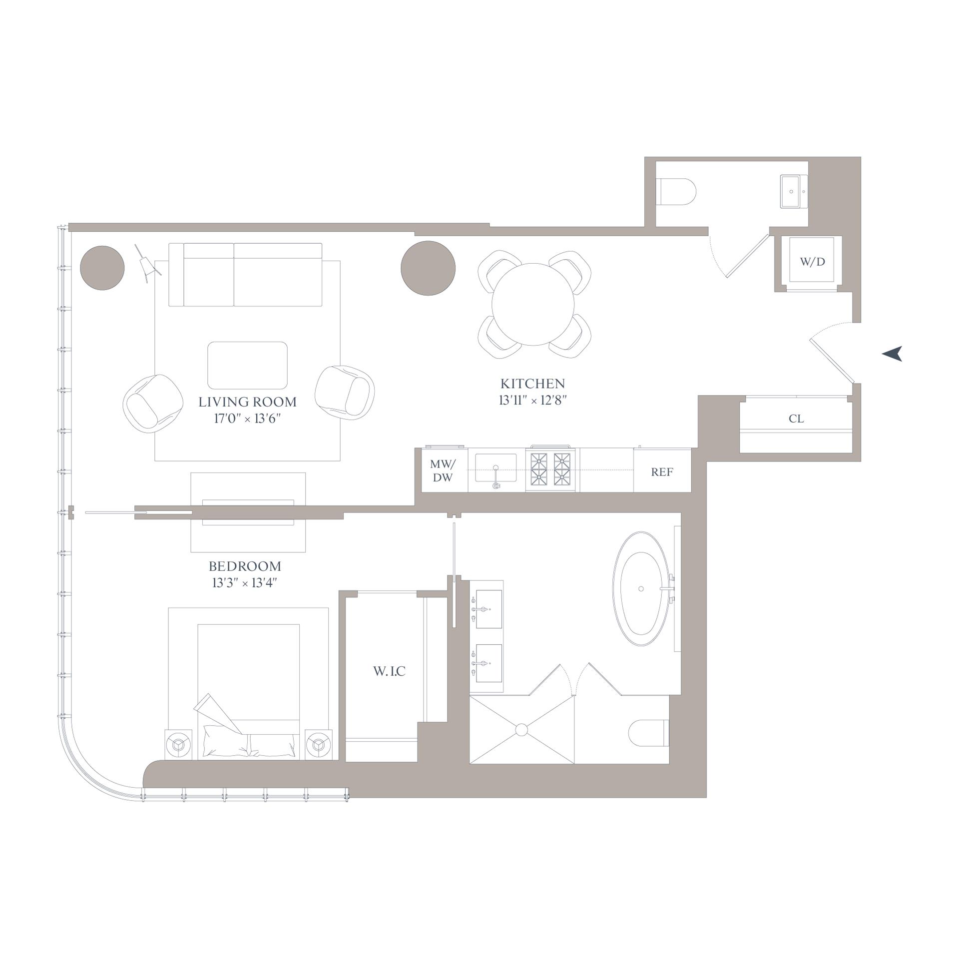 Floor plan of 565 Broome St, N10A - SoHo - Nolita, New York