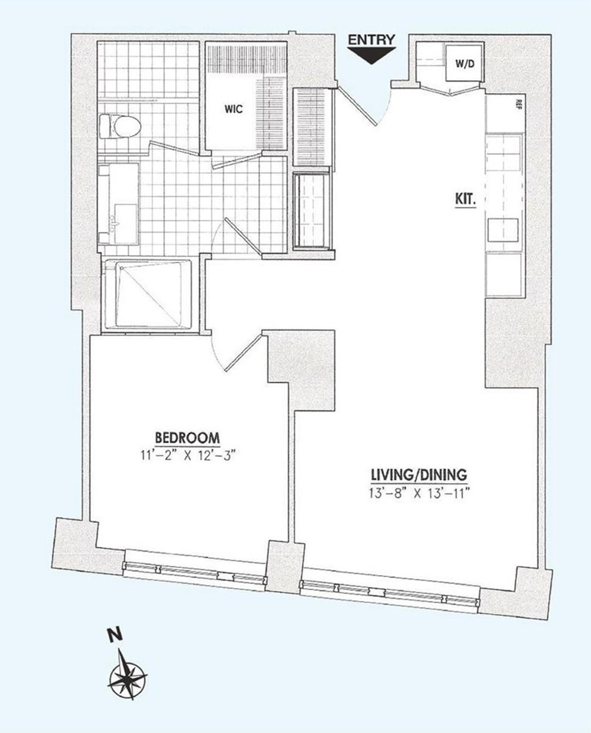 Floor plan of 15 William, 15 William St, 27B - Financial District, New York