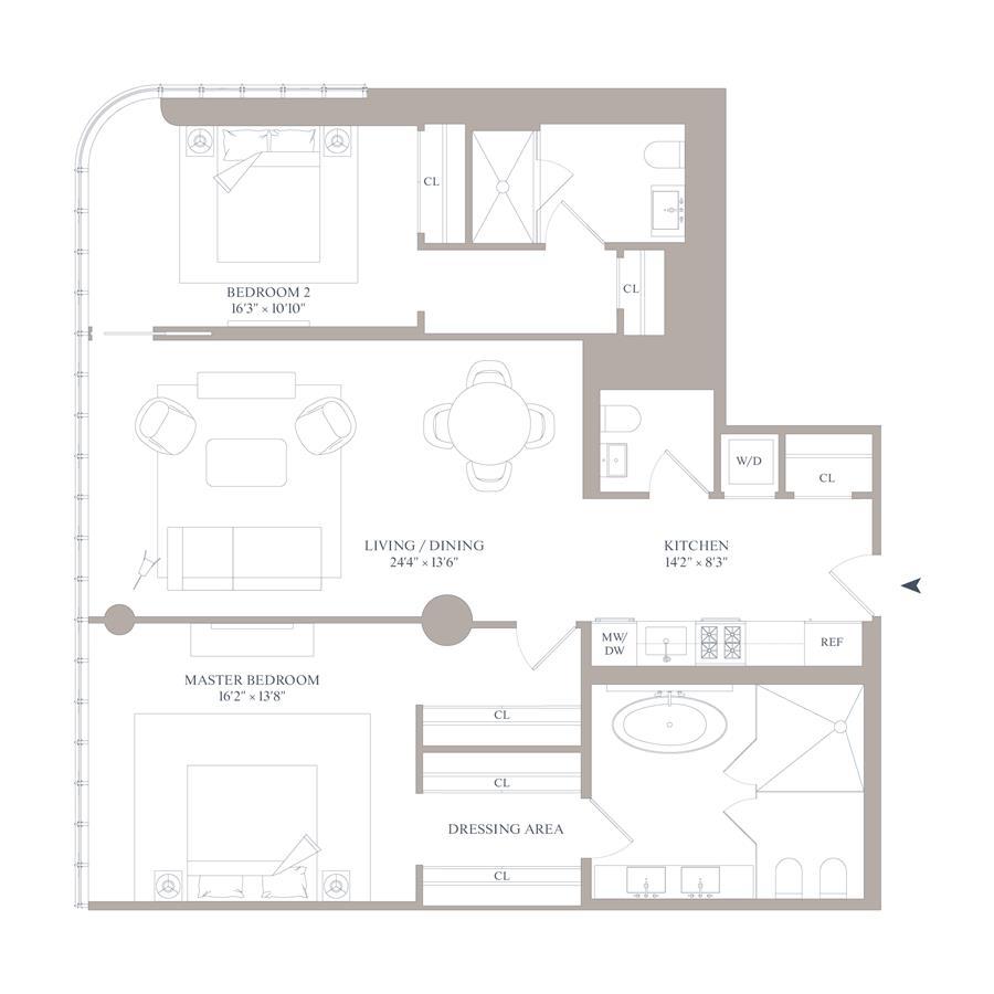 Floor plan of 565 Broome Street, S12A - SoHo - Nolita, New York