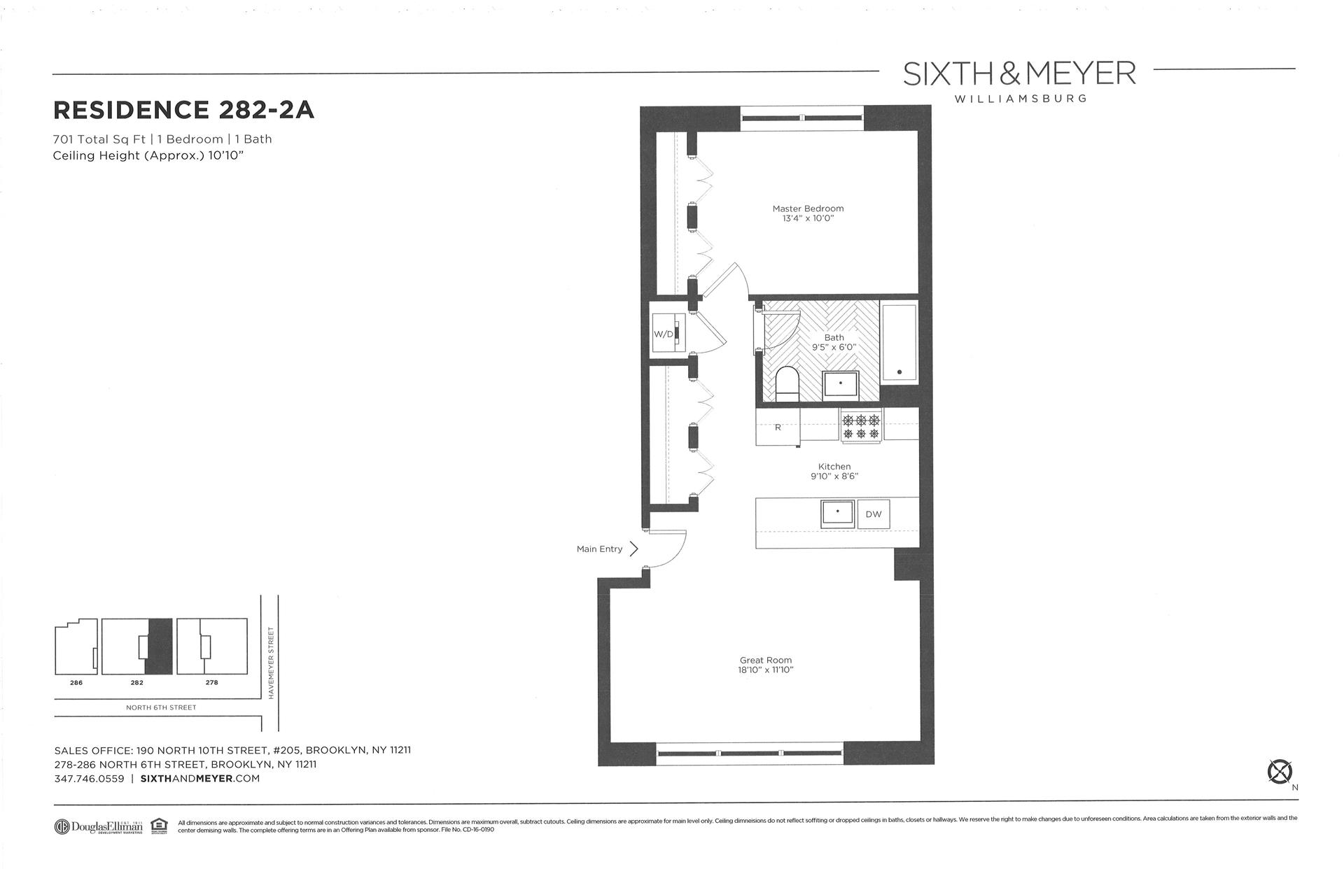 Floor plan of Sixth & Meyer, 278-286 North 6th St, 282/2A - Williamsburg, New York