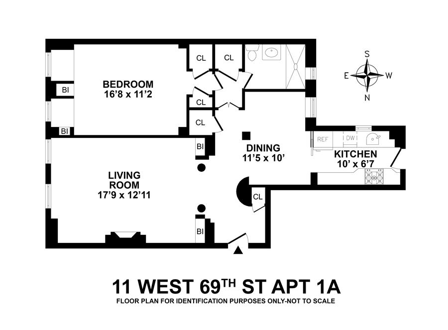 Floor plan of 11 West 69th St, 1A - Upper West Side, New York