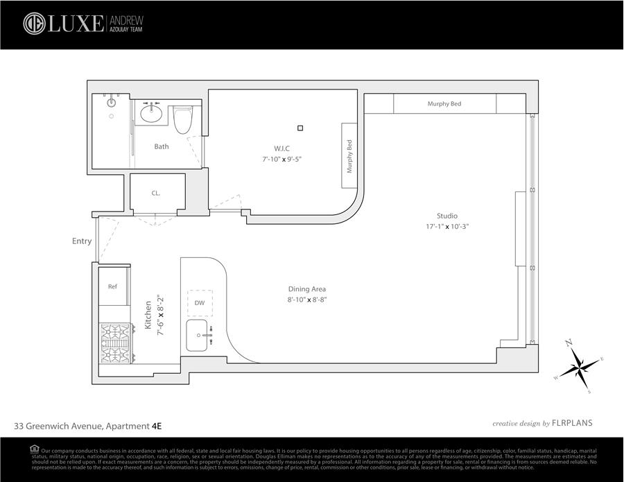 Floor plan of ST. GERMAINE, 33 Greenwich Avenue, 4E - West Village - Meatpacking District, New York