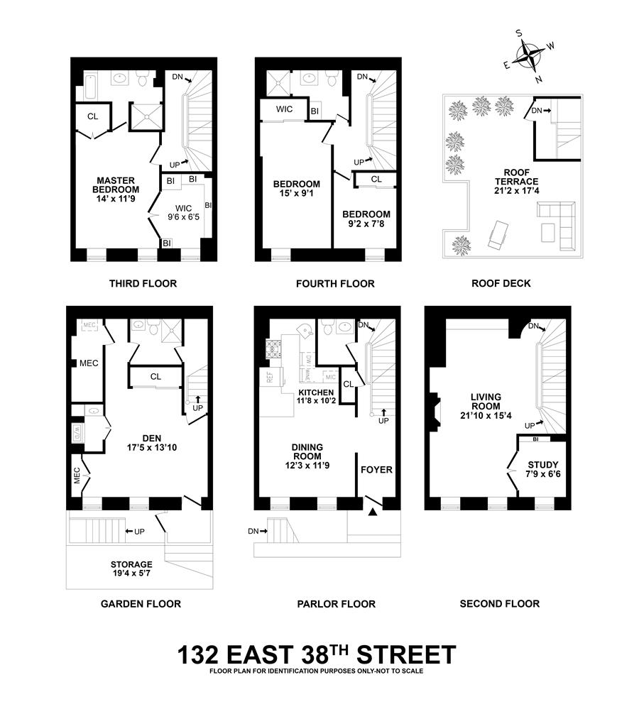 Floor plan of 132 East 38th St - Murray Hill, New York