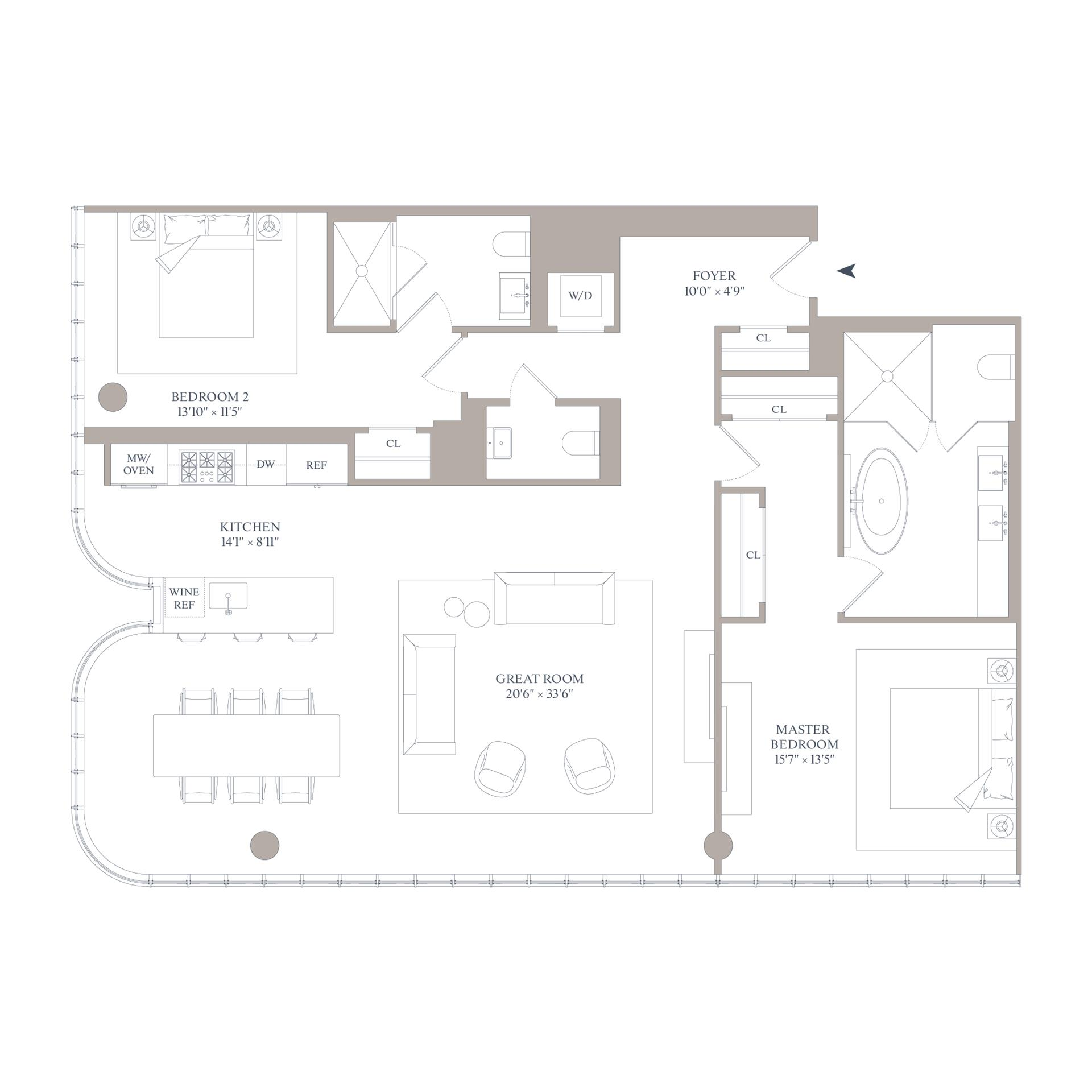 Floor plan of 565 Broome St, S12C - SoHo - Nolita, New York