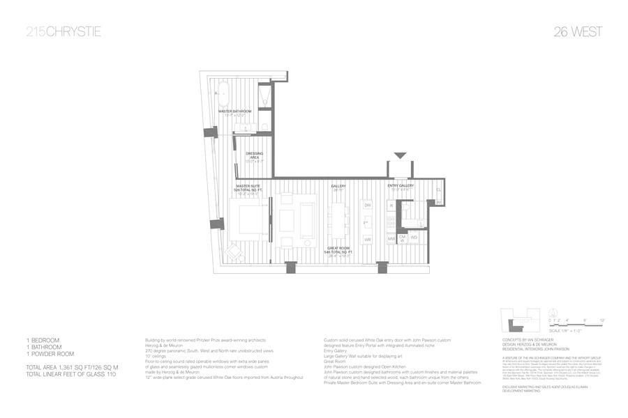 Floor plan of 215 Chrystie St, 26WEST - Lower East Side, New York