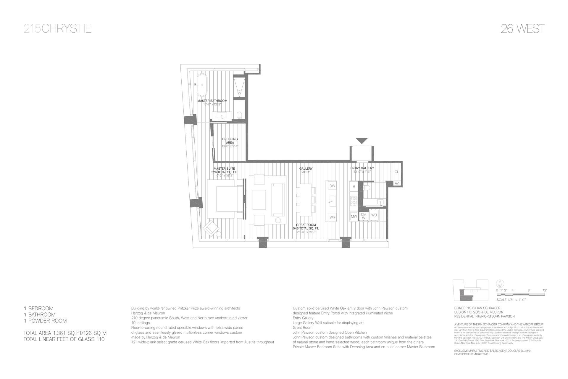Floor plan of 215 Chrystie St, 26WEST - Lower East Side, New York