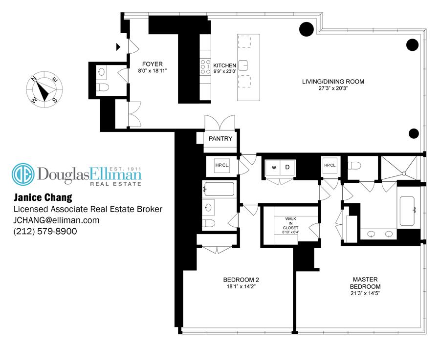 Floor plan of One57, 157 West 57th St, 40F - Central Park South, New York