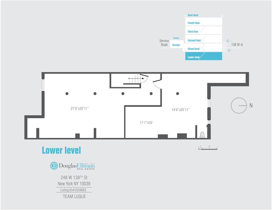 Floor plan of 248 West 138th St - Harlem, New York