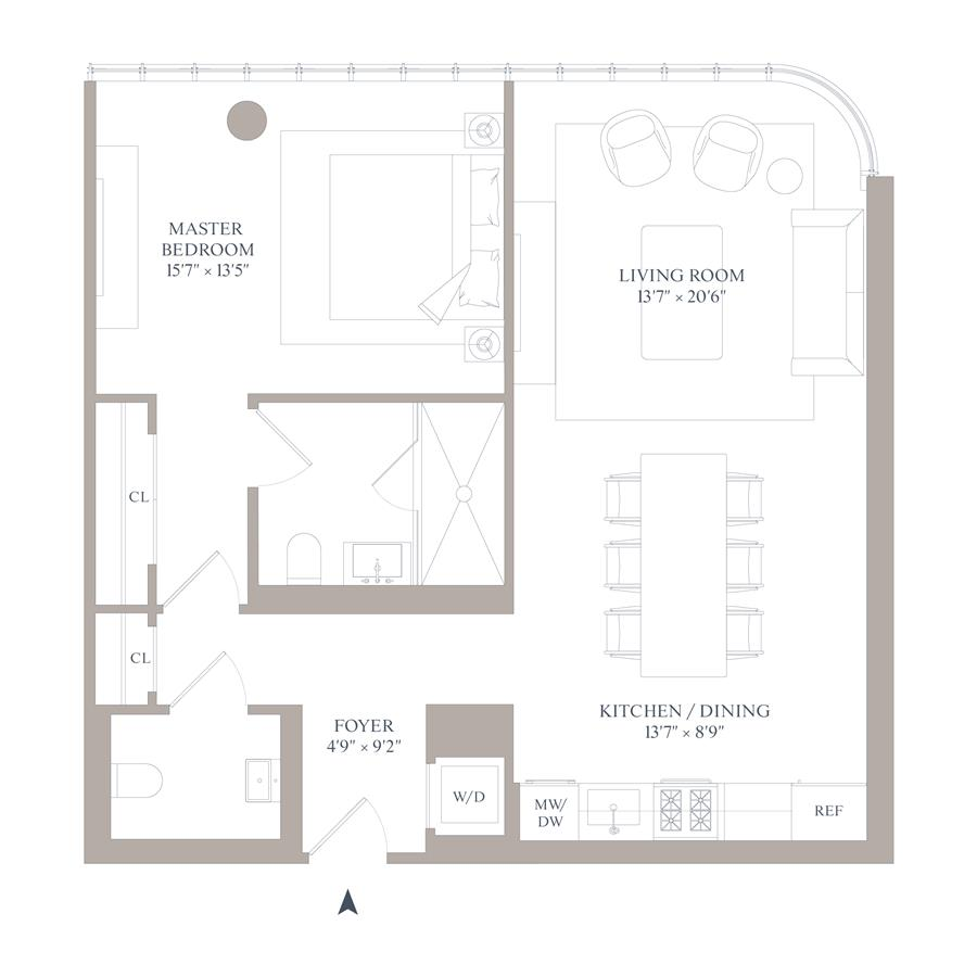Floor plan of 565 Broome St, N7D - SoHo - Nolita, New York
